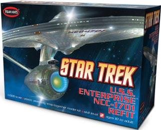 POLAR LIGHTS 1/1000スケール STAR TREK ENTERPRISE NCC-1701 REFIT 組み立て式プラモデル