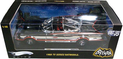 マテル ホットウィール 1/18スケール 1966年 TV版 バットモービル ダイキャストミニカー エリート版 クロームメッキ仕様