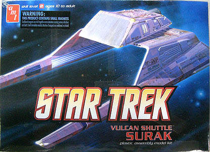 AMT 1/187スケール STAR TREK VULKAN SHUTTLE SURAK 組み立て式プラモデル