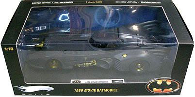 マテル ホットウィール 1/18スケール 1989年 映画版 バットモービル ダイキャストミニカー エリート版