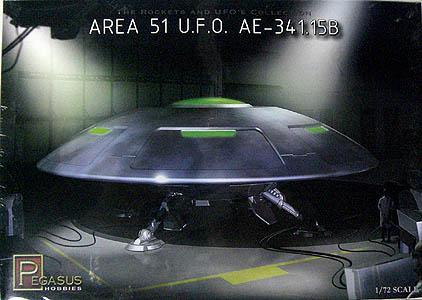 PEGASUS HOBBIES 1/72スケール AREA 51 U.F.O. AE-341.15B 組み立て式 プラモデル
