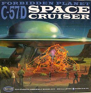 POLAR LIGHTS 1/72スケール FORBIDDEN PLANET C-57D SPACE CRUISER 組み立て式プラモデル