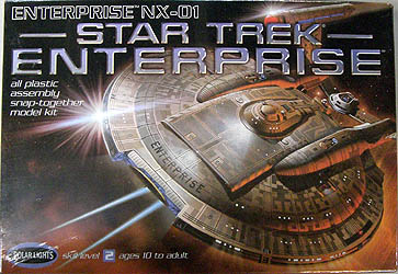 POLAR LIGHTS 1/1000スケール STAR TREK ENTERPRISE ENTERPRISE NX-01 組み立て式プラモデル