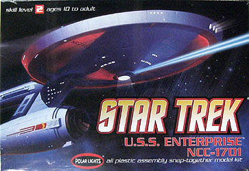 POLAR LIGHTS 1/1000スケール STAR TREK U.S.S. ENTERPRISE NCC-1701 組み立て式プラモデル