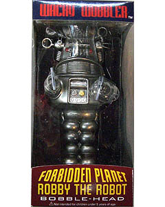FUNKO WACKY WOBBLER FORBIDDEN PLANET ROBBY THE ROBOT BOBBLE HEAD