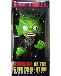 FUNKO WACKY WOBBLER INVASION OF THE SAUCER-MEN SAUCER-MAN BOBBLE HEAD