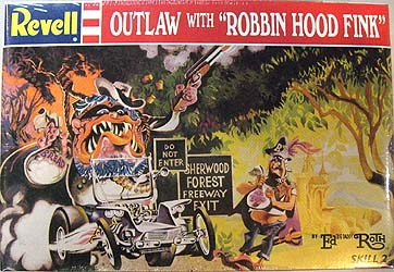 REVELL ED ROTH OUTLAW WITH ROBBIN HOOD FINK 組み立て式プラモデル