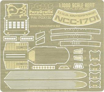 PARAGRAFIX ポーラライツ 1/1000スケール エンタープライズ NCC-1701 REFIT用 エッチングパーツ / PGX130
