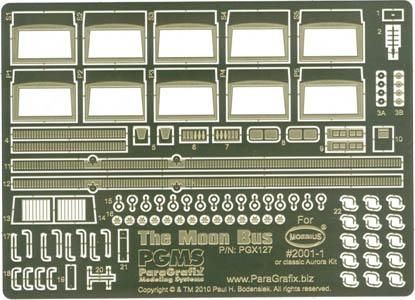 PARAGRAFIX メビウスモデル 1/55スケール 2001年宇宙の旅 ムーンバス用 エッチングパーツ / PGX127