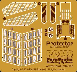 PARAGRAFIX ペガサスホビー プロテクター号用 エッチングパーツ / PGX126