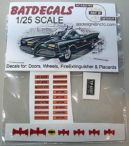 ACADEMY ART & DESIGN ビニールステッカー BATMAN 1/25スケール 1966 BATMOBILE