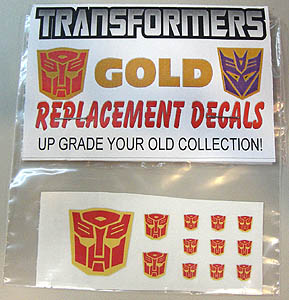 ACADEMY ART & DESIGN ビニールステッカー TRANSFORMERS CYBERTRON GOLD