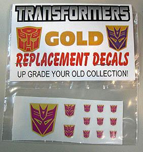 ACADEMY ART & DESIGN ビニールステッカー TRANSFORMERS DESTRON GOLD