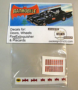 ACADEMY ART & DESIGN ビニールステッカー BATMAN 1/32スケール 1966 BATMOBILE