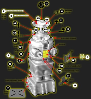 PARAGRAFIX メビウスモデル ロボット フライデー 1/24サイズ専用 エッチングパーツ&デカールセット / PGX124