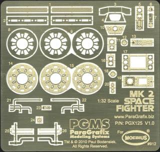 PARAGRAFIX メビウスモデル VIPER MK2専用 エッチングパーツ&デカールセット / PGX125