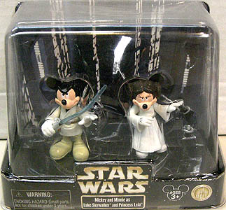 STAR WARS USAディズニーテーマパーク限定 フィギュア 2パック MICKEY AND MINNIE AS LUKE SKYWALKER AND PRINCESS LEIA