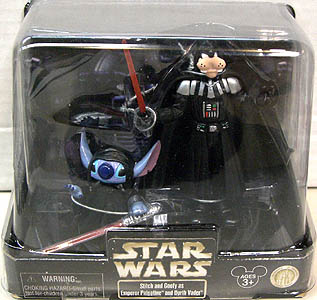 STAR WARS USAディズニーテーマパーク限定 フィギュア 2パック STITCH AND GOOFY AS EMPEROR PALPATINE AND DARTH VADER