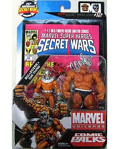 HASBRO MARVEL UNIVERSE COMIC PACKS SECRET WARS BULLDOZER & THE THING ブリスター傷み特価