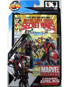HASBRO MARVEL UNIVERSE COMIC PACKS SECRET WARS NIGHTCRAWLER & STORM
