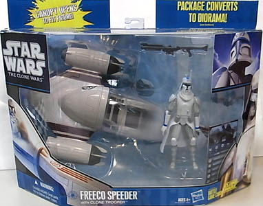 HASBRO STAR WARS THE CLONE WARS FREECO SPEEDER WITH CLONE TROOPER