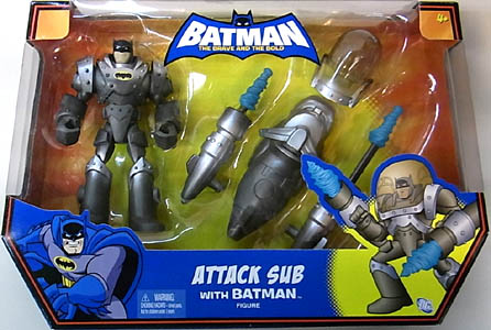 MATTEL BATMAN THE BRAVE AND THE BOLD ATTACK SUB WITH BATMAN