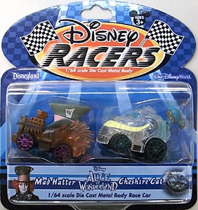 ALICE IN WONDERLAND USA ディズニーテーマパーク限定 DISNEY RACERS 1/64スケールミニカー MAD HATTER & CHESHURE CAT