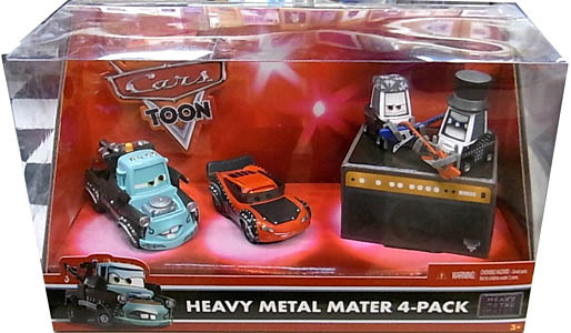 MATTEL CARS TOON HEAVY METAL MATER 4-PACK パッケージ傷み特価