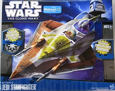 HASBRO STAR WARS THE CLONE WARS VEHICLE KIT FISTO'S JEDI STARFIGHTER