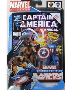 HASBRO MARVEL UNIVERSE COMIC PACKS CAPTAIN AMERICA WOLVERINE & CAPTAIN AMERICA