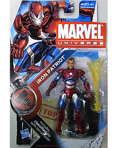 HASBRO MARVEL UNIVERSE SERIES 2 #019 VARIANT IRON PATRIOT