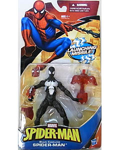 HASBRO SPIDER-MAN CLASSICS 2010 BLACK COSTUME SPIDER-MAN [LAUNCHING MISSILE!]