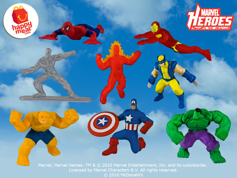 USA McDONALD HAPPY MEAL MARVEL HEROES 全8種セット