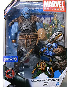 HASBRO MARVEL UNIVERSE WALMART限定 SAVAGE FROST GIANT AND LOKI