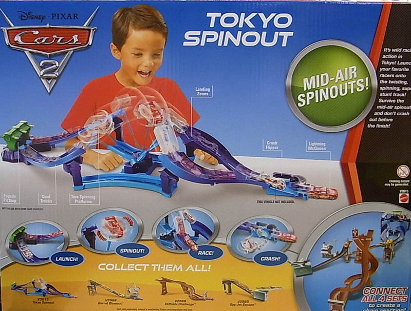 MATTEL CARS2 TOKYO SPINOUT TRACK SET