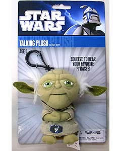 UNDERGROUND TOYS STAR WARS TALKING PLUSH CLIP-ON YODA