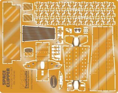 PARAGRAFIX メビウスモデル 1/160スケール 2001年宇宙の旅 オリオン号 スペースクリッパー用 エッチングパーツ / PGX140