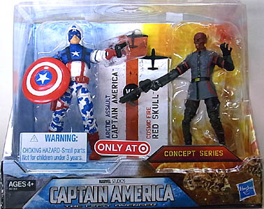 HASBRO 映画版 CAPTAIN AMERICA: THE FIRST AVENGER USA TARGET限定 3.75インチ 2PACK CONCEPT SERIES ARCTIC ASSAULT CAPTAIN AMERICA VS. COSMIC FIRE RED SKULL