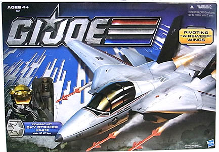 HASBRO G.I.JOE 30TH ANNIVERSARY ビークル COMBAT JET SKY STRIKER XP-21F WITH CAPT. ACE
