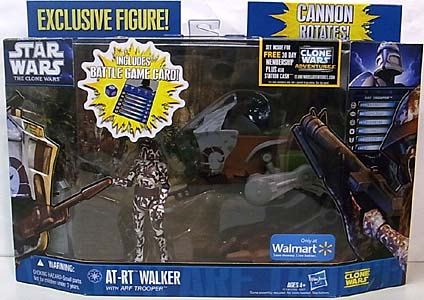 HASBRO STAR WARS THE CLONE WARS USA WALMART限定 AT-RT WALKER WITH ARF TROOPER