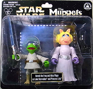 STAR WARS USA ディズニーテーマパーク限定 フィギュア THE MUPPETS 2PACK KERMIT THE FROG AND MISS PIGGY AS LUKE SKYWALKER AND PRINCESS LEIA