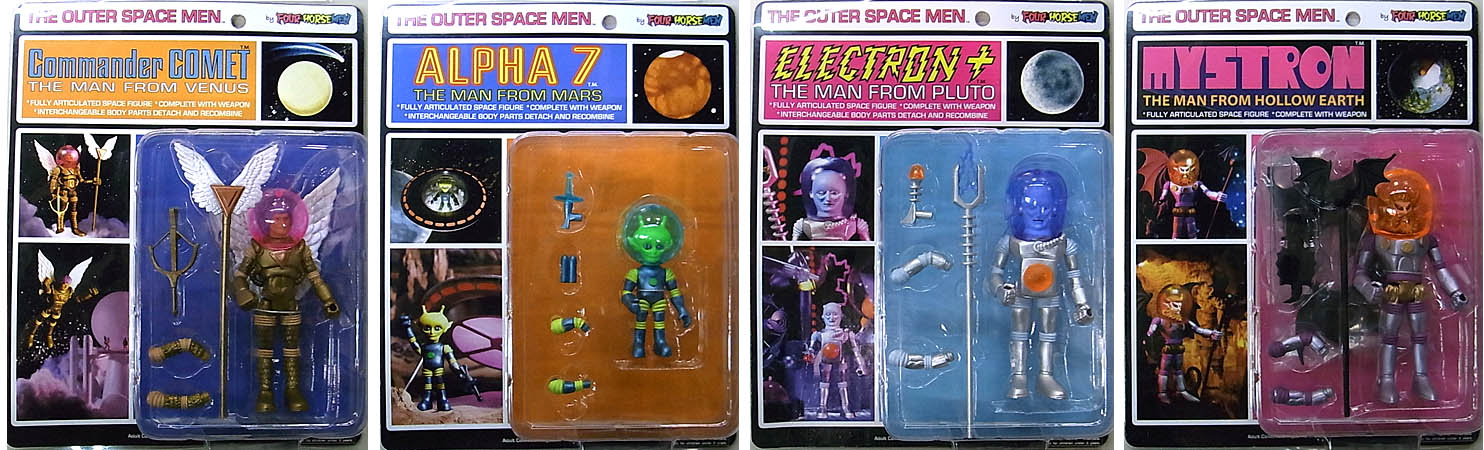 FOUR HORSE MEN THE OUTER SPACE MEN SERIES 3 & SERIES 4 4種セット