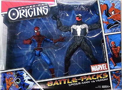 HASBRO SPIDER-MAN ORIGINS BATTLE PACK SPIDER-MAN VS VENOM 開封済み未使用品特価