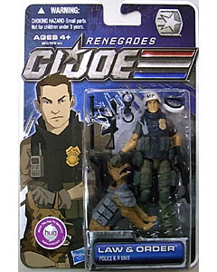 HASBRO G.I.JOE RENEGADES シングル LAW & ORDER [POLICE K-9 UNIT]