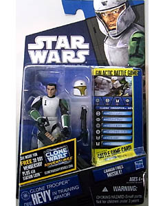 HASBRO STAR WARS THE CLONE WARS BASIC FIGURE CLONE TROOPER HEVY IN TRAINING ARMOR
