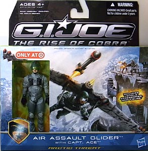 HASBRO 映画版 G.I.JOE : THE RISE OF COBRA USA TARGET限定 AIR ASSAULT GLIDER WITH CAPT. ACE