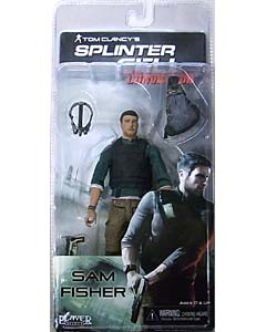 NECA PLAYER SELECT SPLINTER CELL CONVICTION SAM FISHER with BACKPACK