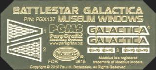 PARAGRAFIX メビウスモデル 1/4105スケール バトルスターギャラクティカ 母船ギャラクティカ号用 エッチングパーツ MUSEUM WINDOWS / PGX137