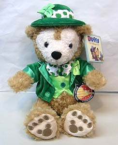 DISNEY USAディズニーテーマパーク限定 DUFFY THE DISNEY BEAR 12INCH ST. PATRICK'S DUFFY THE DISNEY BEAR