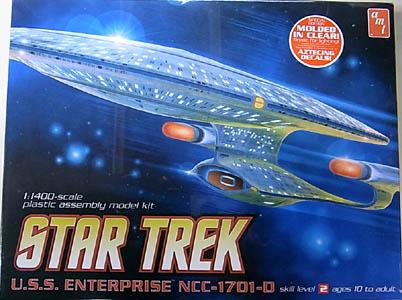 AMT 1/1400スケール STAR TREK U.S.S. ENTERPRISE NCC-1701-D 組み立て式プラモデル [CLEAR ver.]